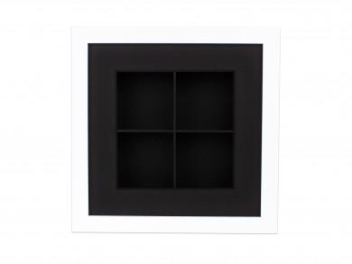 SPOX - weiß/schwarz - 4 Fächer
