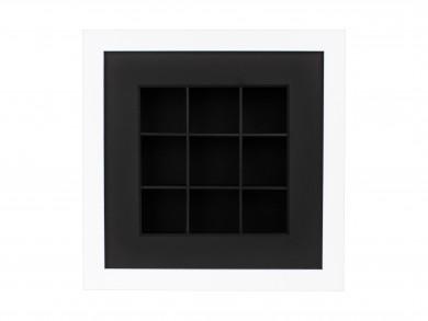 SPOX - weiß/schwarz - 9 Fächer