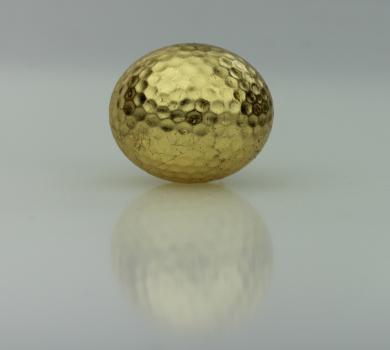 Golfball vergoldet, lose